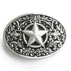 Western Lone Star Belt Buckle Black - http://coolthings.us