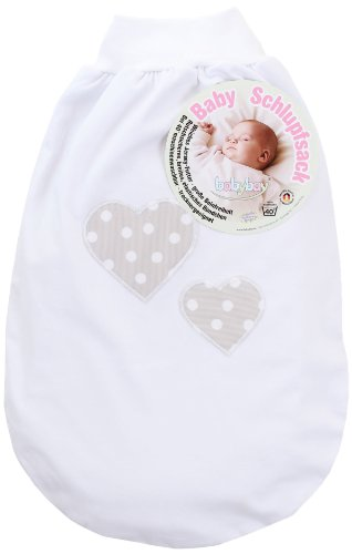 Babybay 500117 Schlupfsack Applikation Herz, grau