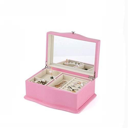 Figuras Cajas de música Rosa de la moda caja de música Música joyería de madera caja de caja de música portable de la joyería caja de música de gran capacidad de almacenamiento caja de acabado Cajas d