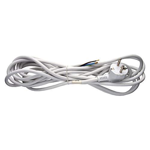 EMOS KF-CR2 Bügeleisen-Anschlussleitung 1x 5 m/Zuleitungskabel/Anschlusskabel/Bügeleisenkabel Weiß / 3X 0,75 mm / H05VV-F 3G
