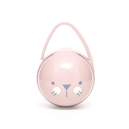 Suavinex - Portachupete premium bebé. Para llevar 2 chupetes. Caja Portachupetes portátil. Funda para chupetes. Color rosa