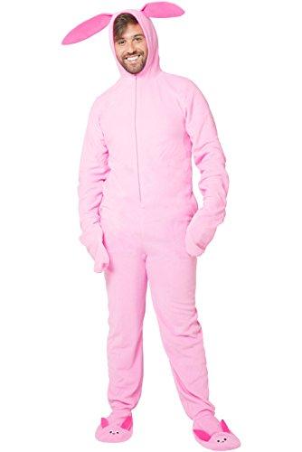 A Christmas Story Herren Deranged Bunny Pajamas Pyjama Set, Rose, Small/Medium