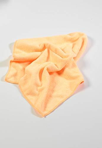 Paragon Microfibre Chiffons d'usage général de qualité supérieure Orange X10