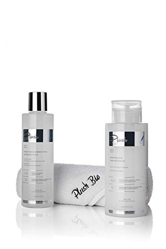 Plush luxuryBIOcosmetics - Set with 2 products Lily of the Valley + one towel gift - make-up removal, cleansing, toning, detoxifying - skin types: normal, sensitive