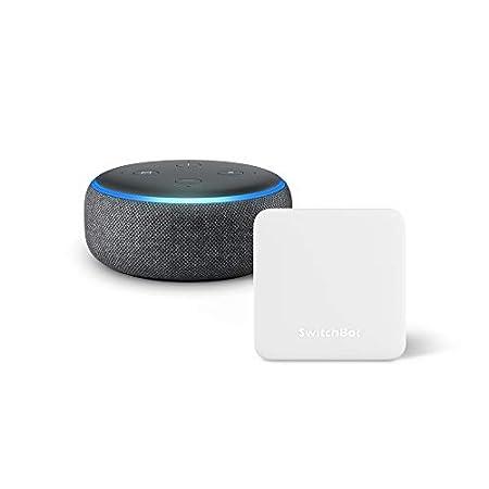 【1/5まで】Amazon Echo Dot 第3世代 スマートスピーカー with Alexa、SwitchBot Hub Mini スマートスピーカー対応学習リモコンセットで3,980円送料無料!【初売り】