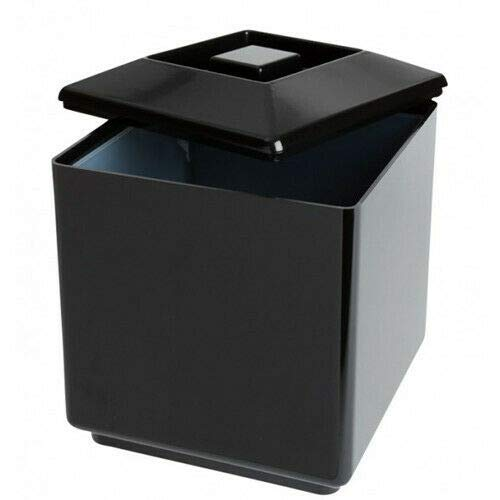 Square Plastic Ice Bucket 4L Black Champagne Wine Cooler Serving Cool Drinks
