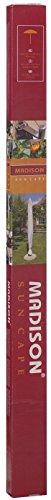 Madison hochwertige Schutzhülle #1 mit Stab für Sonnenschirme mit einem Durchmesser von 200 - 400 cm aus wetterfestem Polyestergewebe in grau - 5