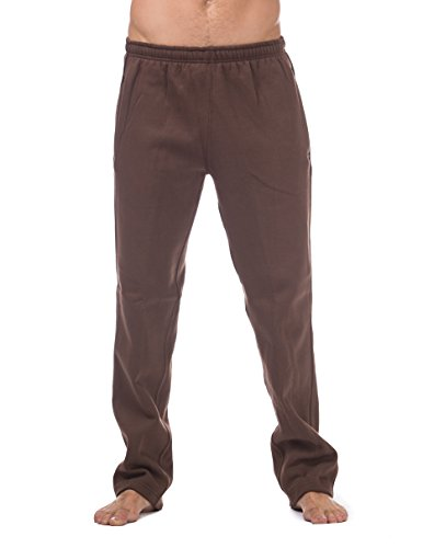 Pro Club Men's Comfort Fleece Pant, Medium, Brown