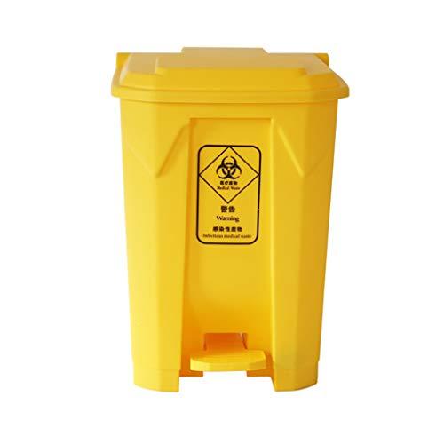 GF Poubelle - poubelle avec couvercle, en plein air hôpital hospitalier poubelle médicale haute capacité (4 tailles) @ (taille : 50L)