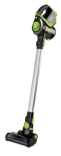Polti Forzaspira SLIM SR110 Escoba eléctrica recargable sin cables 2 en 1, tecnología ciclónica, autonomía de hasta 50 minutos, 3 fases de filtrado con filtro HEPA, Negro/Verde