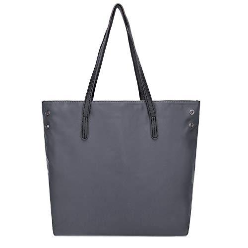 Lightweight Stylish Laptop Bag for Ladies,Nylon Shoulder Handbag Large Shopper Set,Women's Tote Bag for Work Travel School,Thanksgiving Gift