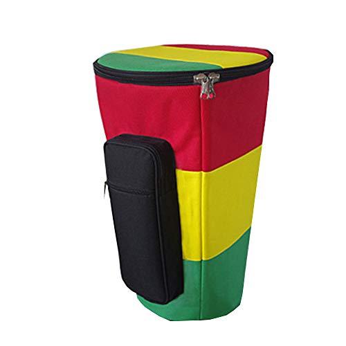 HOMDREAM Djembe Bag Multicolor Djembe Bongo Borsa per Batteria Africana con Tracolla Regolabile per Regalo Musicale per Batterista,13inch