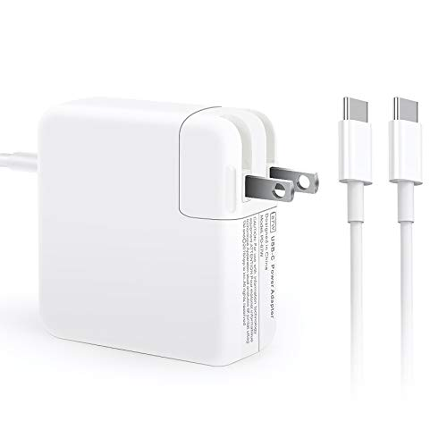 87W USB C Charger Power Adapter for MacBook Pro 15 Inch 13 Inch, MacBook 12 Inch, MacBook Air 2018 iPad Pro 12.9, 11, Included USB-C to USB-C Charge Cable (6.6ft/2m)