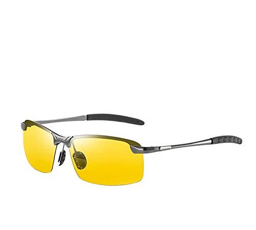GAOTIAN Gafas de Sol Gafas de Sol fotocromáticas Que cambian de Color Vidrios de camaleón para Hombres Gafas de Sol para Hombre Gafas de Sol de la visión de la visión Nocturna
