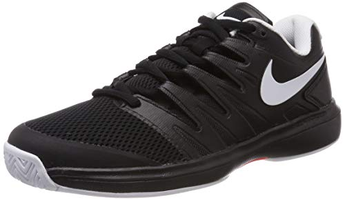 Nike Herren AIR Zoom Prestige HC Tennisschuhe, Mehrfarbig (Black/White-Bright Crimson 002), 44.5 EU
