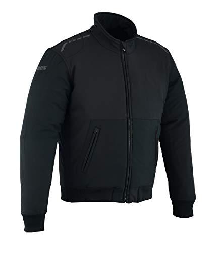 Soft Shell Motorradjacke Textil Schwarz, Kevlar Gefutter (5XL)