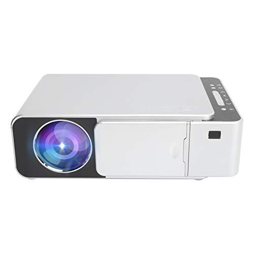 Proyector HD 1080P, cine en casa portátil en la misma pantalla, reproductor de video multimedia doméstico de 55 W, con ajuste de luz azul, equipo de proyección con buena disipación((Enchufe de la UE))