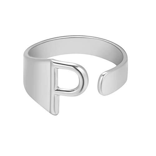 Fashion Couple Ring Twenty Six English Letter Open Ring Couple Jewelry