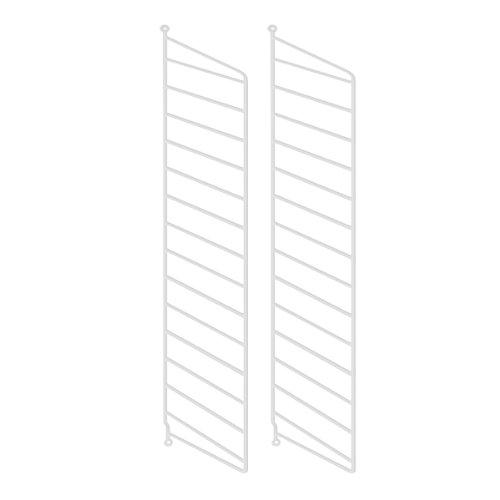 String System Wandleiter 75x30cm, weiß Wandmontage 75x30cm 2er Set