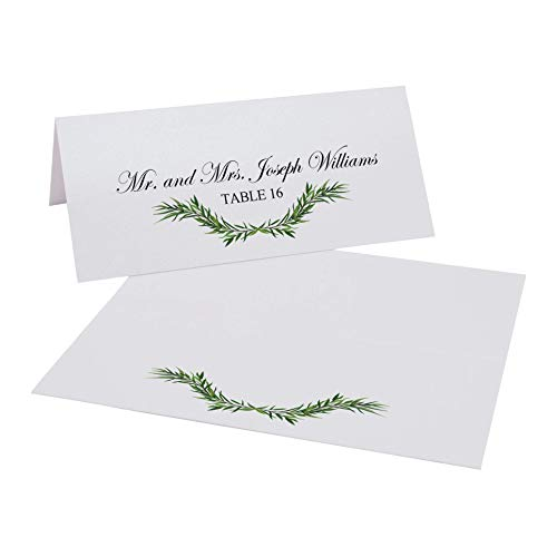 Wreath and Greens Garland Swag Printable Place Cards, Set of 60 (10 Sheets), Laser & Inkjet Printers - Perfect for Wedding, Parties, and Special Events