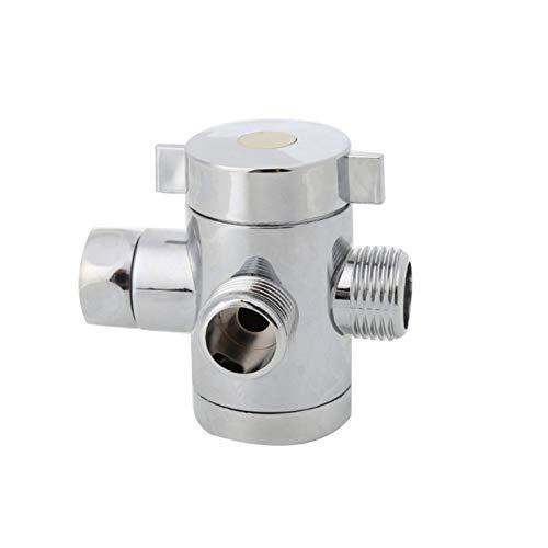 QFDM Conector de Agua de jardín G1 / 2 Pulgadas Baño T Adaptador Válvula de Conector para Inodoro Bidé Bidé Cabeza de Ducha Válvula Trasco de la Cabeza de la Ducha Suministros de jardinería