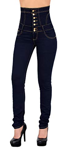 ESRA Damen Jeans Jeanshose Skinny Damen Hose High Waist Hochbund bis Übergrösse J11