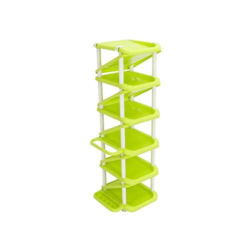 JCXOZ Zapatero, Zapatero de Montaje Simple de múltiples Capas Gabinete de Zapatos de plástico económico for el hogar con Estante de Almacenamiento de Paraguas (Color : Green)