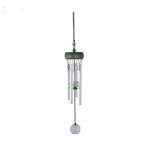 Abcsea 1 pieza verde windbell,campanas de viento tubulares,carillones de viento, campana tubular