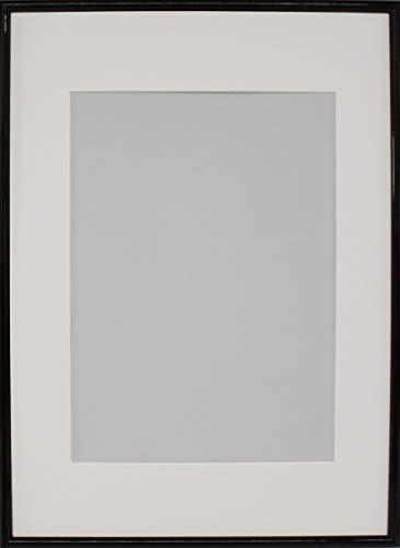 Fotolijst van hout, zwart lak, DIN A3/Passepartout DIN A4, WPM - wissellijst profiel 2-50