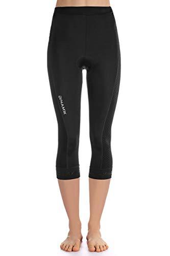 Dinamik Womens Cycling 3/4 Bike Tights Light Leggings Extra Padded Half Pants EVO PRO (Medium,...