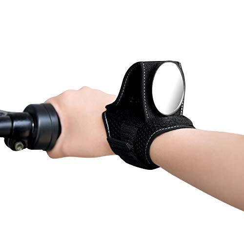 Wilxaw Fahrradspiegel, Lenker Handgelenk Rückspiegel Einstellbar, Radfahrer Spiegel 90° Drehungsüberprüfung Tragbar Leicht für Rennrad Mountainbike Erwachsene Kinders