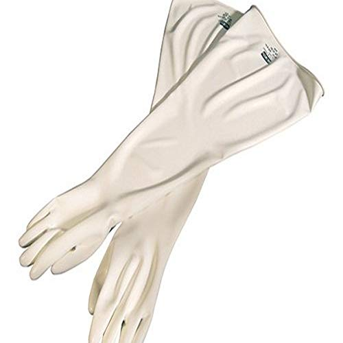 "Honeywell 8Y1532A/9Q Hypalon Drybox Gloves, Ambidextrous, 8"" Cuff, 32"" Length, 15 mil gauge, Size 9.75"