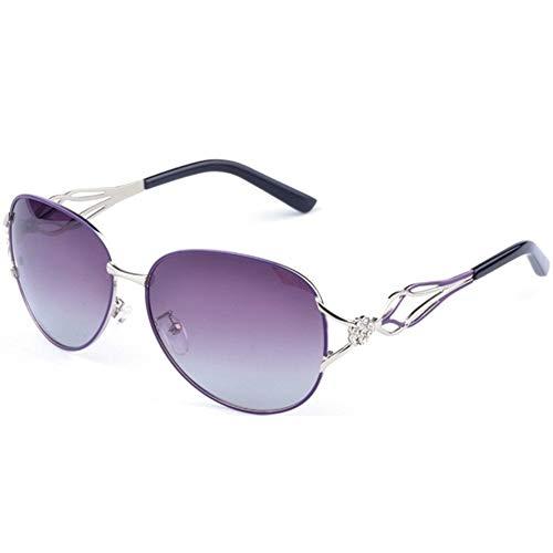 Qilo Marco de Metal de Las Gafas de Sol de Las Mujeres de la Vendimia Gafas de Sol for Mujeres Vidrios (Color : Purple)
