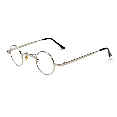 HUACANG Lennon Runde Sonnenbrille, Retro Vintage Steampunk Männer und Frauen UV400 Sonnenbrille, Erwachsene Beatles unzerstörbar Metallrahmen Sonnenbrille (Farbe : A)