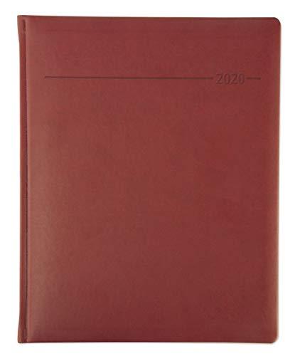 Manager-Timer Tucson rot 2020 (22 x 27) - 1 Woche 2 Seiten - 160 Seiten - Cheftimer - Tucson-Einband - Terminplaner - Notizbuch