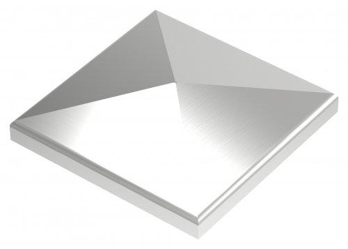 Pyramidenkappe, geschliffen, Ecken überschliffen, 80x80mm