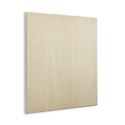 "MHUI hojas de madera contrachapada, para bricolaje modelo placa de madera artesanal 50 x 100 mm/1.96 ""X3.9"", grosor: 3/4 mm, 5 piezas, 3 mm x 50 mm x 100 mm"