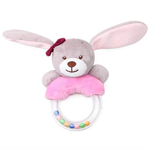 1 stuks. Leuke baby rammelspeelgoed cartoon konijn pluche baby rammelen cartoon bed speelgoed B.