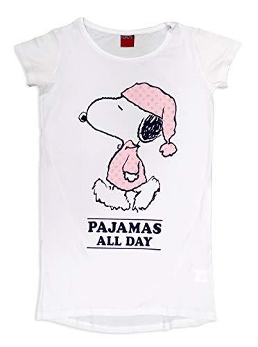 Peanuts Snoopy Damen Nachthemd Baumwolle Gr. Medium, weiß