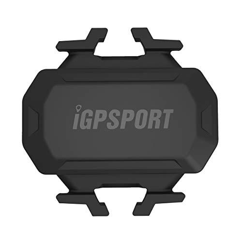IGPSPORT Sensor de cadencia C61inalámbrico Impermeable IPX7, Doble módulo Bluetooth y Ant + Compatible y Garmin Edge