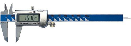 Vogel elektrische digitale schuifmaat (meetbereik 150 mm / 6 inch), groot LCD-scherm, metalen behuizing afdekking, metalen knopen) 202040-3