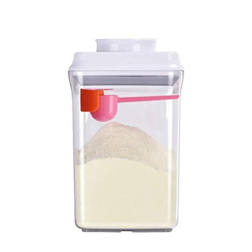 Fantastic Deal! Milk Powder Dispenser, Plastic Food Storage Containers for Cereal Snacks Keeps Food ...