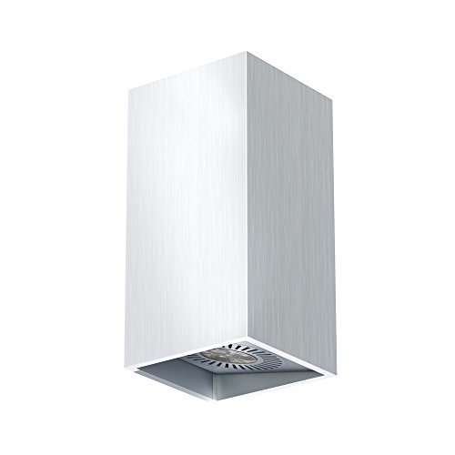 Osram 4008321985484 LED-Wandleuchte, Innenleuchte, horizontale und vertikale Montage, LED-Spots 60° schwenkbar, 4,5 Watt, 3000K, Warmweiß, Tresol, silber
