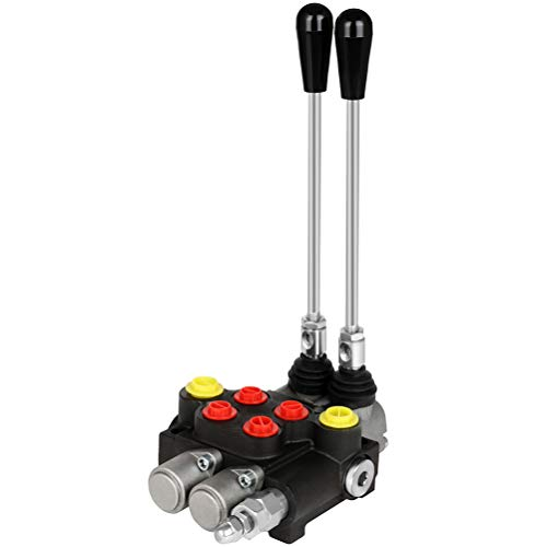 2 Spool 13GPM 3600 PSI Hydraulic Control Valve SAE Ports Double Acting Parallel Center Tractor Loader W/ Joystick for Tractors Loaders Tanks Loaders Log Splitters