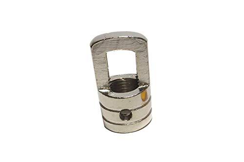 Argolla plateada cuerpo roscado para colgar y paso 10/100 - Accesorios para lámparas
