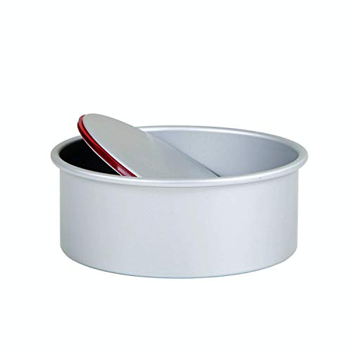 Pati-Versand 13689 Push Pan Redondo, Aluminio Fundido a presión, Plateado, 20 x 9 x 20 cm