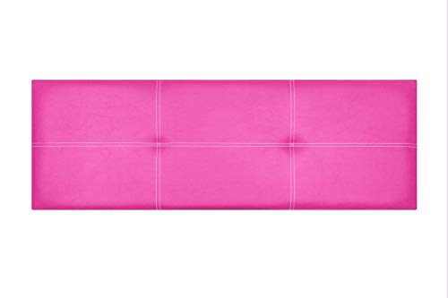 Cabecero de Cama Modelo Paris, en Doble Costura y tapizado en Polipiel Ahazar. Altura 50cm. Pro Elite. Color Rosa. para Cama de 105 (Medidas 115x50x5) Pro Elite.