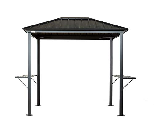 Sojag 6' x 8' x 8' Dakota Outdoor Grill Gazebo Backyard Shade and Grilling Structure