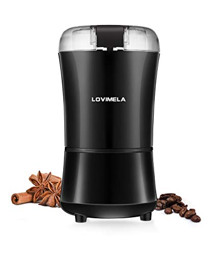 Electric Coffee Grinder, Coffee Bean Blade Grinders, Stainless Steel Blade, Portable & Compact for Spices, Pepper, Herbs, Nuts, Seeds, Grains(Brush NOT Included)