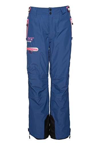 Superdry Slalom Slice Ski Pantalon de Neige Femme, Vortex Navy Space Dye, 34